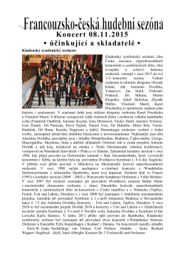 Účinkující a skladatelé - Kladenský symfonický orchestr