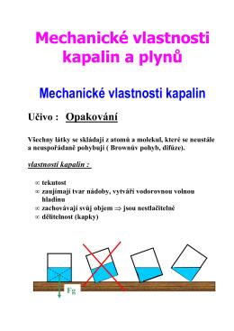 2.opakování vlastností kapalin