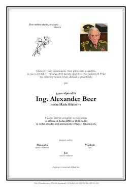2015-12-31 Ing. Alexander Beer, nositel řádu