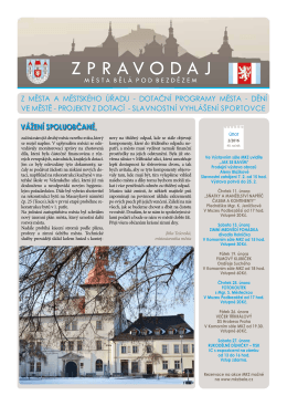 Zpravodaj města Bělá pod Bezdězem 2/2016