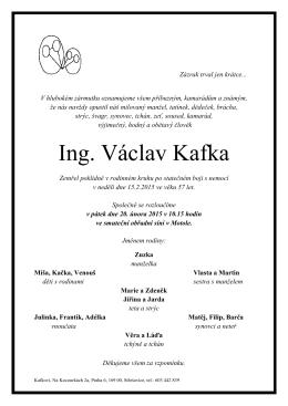 Ing. Václav Kafka