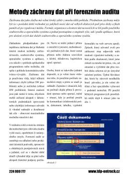 Metody záchrany dat při forenzním auditu - TDP