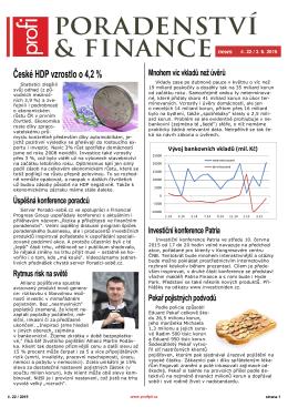České HDP vzrostlo o 4,2 %