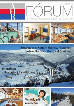 ahr fórum- leden 2016 - Asociace hotelů a restaurací České republiky