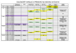 Termínová listina RSST Břeclav 2015-16