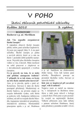 Školní časopis V Poho – 3. vydání