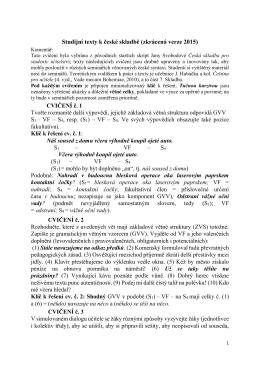 Studijní texty k české skladbě (zkrácená verze 2015)