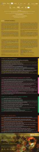 festival 9 TÝDNŮ BAROKA 29. 6.–30. 8. 2015