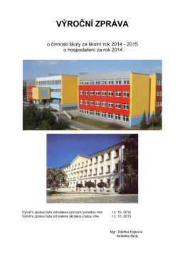 Výroční zpráva 2014/2015 - Základní škola Týn nad Vltavou, Hlinecká