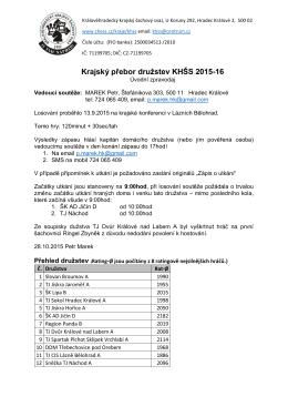 KP_2015-16 úvodní zpravodaj - Královéhradecký krajský šachový