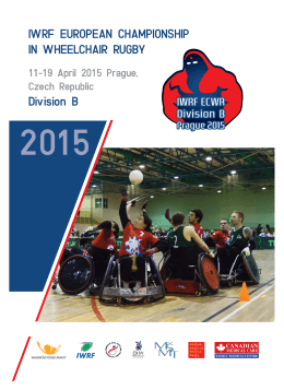 IWRF EUROPEAN CHAMPIONSHIP IN WHEELCHAIR RUGBY