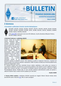 Bulletin ČRK č. 1/2016