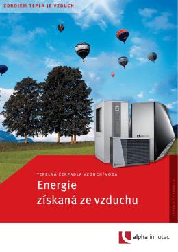 Prospekt k sortimentu tepelných čerpadel vzduch/voda