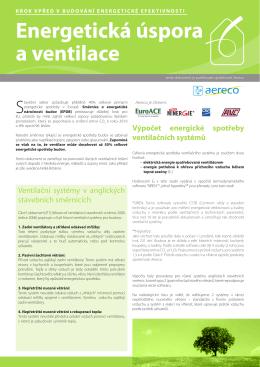 Energetická úspora a ventilace