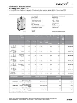 5/2 - cestný ventil, Série CD07