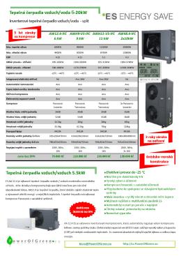 Tepelná čerpadla EnergySave - vzduch/voda 6