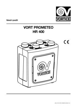 VORT PROMETEO HR 400 Návod k použití