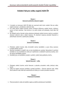 Volební řád pro volbu orgánů AZZS ČR