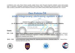 Den Policie ČR aneb Integrovaný záchranný systém v akci