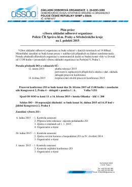 Plán práce výboru základní odborové organizace Policie