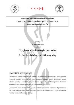 Pozvánka - Veterinární a farmaceutická univerzita Brno