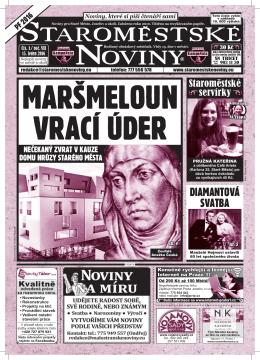 STAROMESTSKE NOVINY - Staroměstské noviny