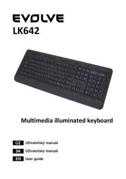LK642 Multimedia illuminated keyboard