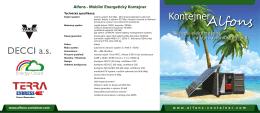 Ke stažení produktový list v PDF - Container Alfons