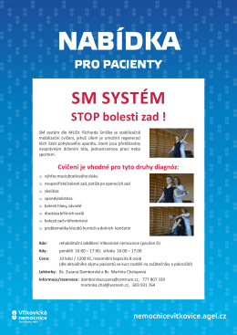 Bolesti zad SM systém