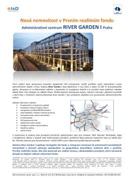 Nová nemovitost v Prvním realitním fondu
