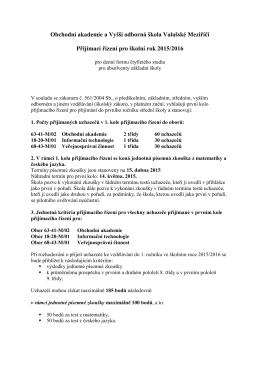 Obchodní akademie a Vyšší odborná škola Valašské Meziříčí