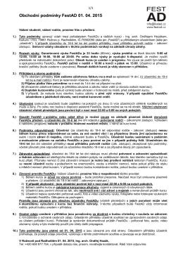 Obchodní podmínky FestAD 01. 04. 2015