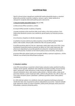 Návštěvní řád PB (formát pdf)