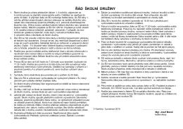 Řád školní družiny 2015/16