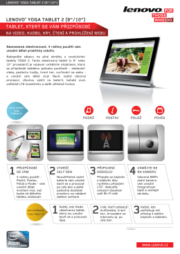 "LENOVO® YOGA TABLET 2 (8""/10"")"