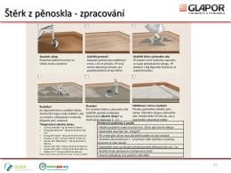 Zpracování štěrku z pěnového skla GLAPOR CZ