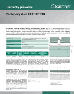 Technický průvodce Podlahový dílec CETRIS® PDI