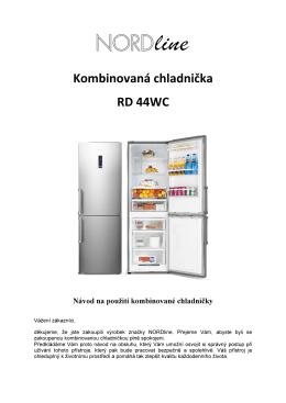 kombinovaná chladnička - návod