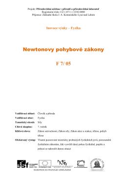 F7_05_Newtonovy pohybove zakony