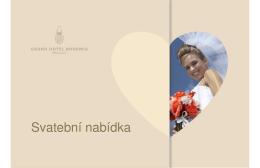 příklady svatebních menu