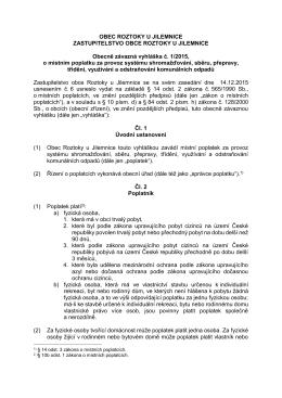 Vyhláška o místním poplatku za odpad