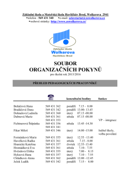 Organizační pokyny_15_16 - ZŠ a MŠ Wolkerova Havlíčkův Brod
