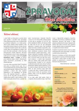 zpravodaj č. 3 / 2015