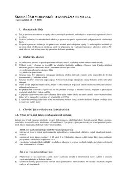 Školní a klasifikační řád