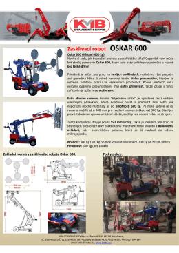 Oskar 600 CZ - KMB STAVEBNÍ SERVIS sro