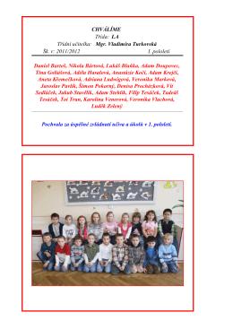 První pololetí školního roku 2011/2012