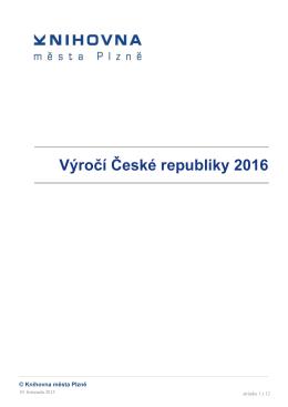 Výročí České republiky 2016