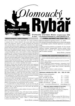 Časopis Ol. rybář 12-2014