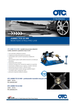 OTC JUMBO TCS 52 NW – profesionální montážní stroj pro LKW