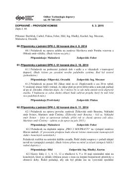 Zápis č. 66 ze dne 05.03. 2015
